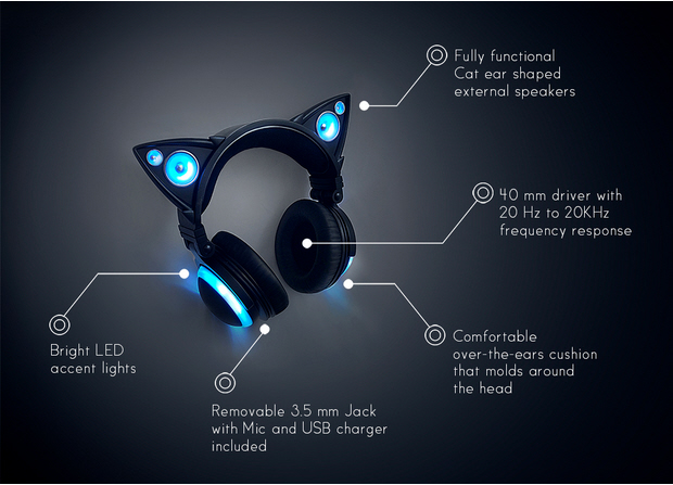 Axent Wear Cat Ear Headphones Features